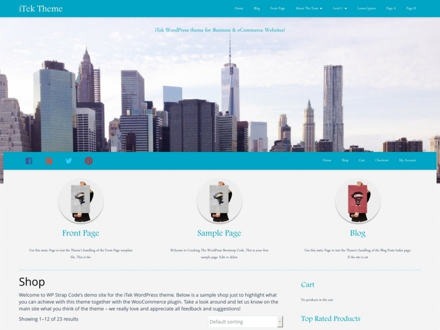 iTek best free WordPress theme