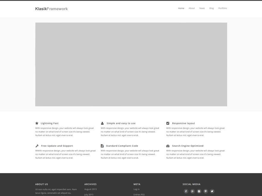 Klasik Framework theme free download