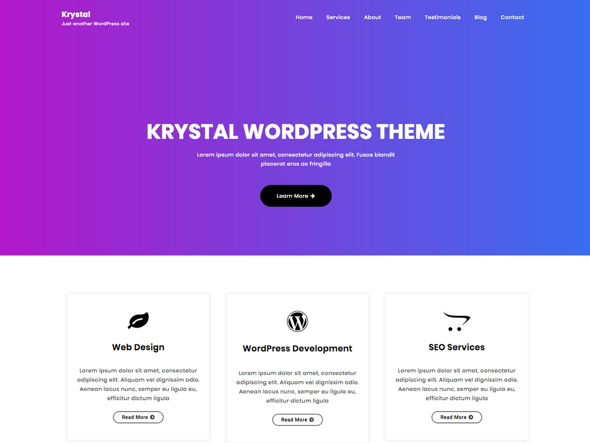 Krystal best portfolio WordPress theme