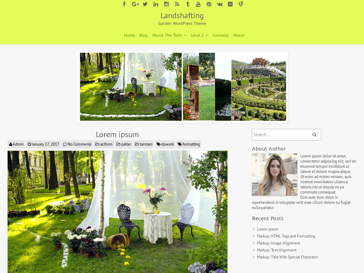 Landshafting WordPress theme free download