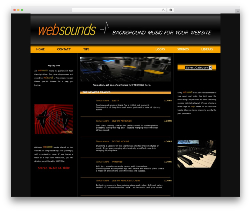 Layers theme WordPress - websounds.eu