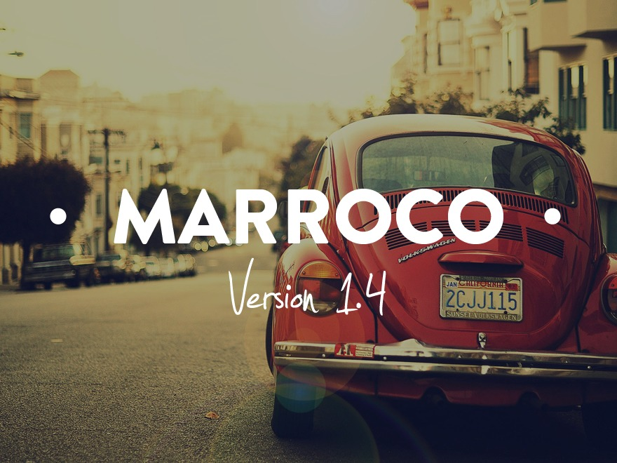 Marroco WordPress page template