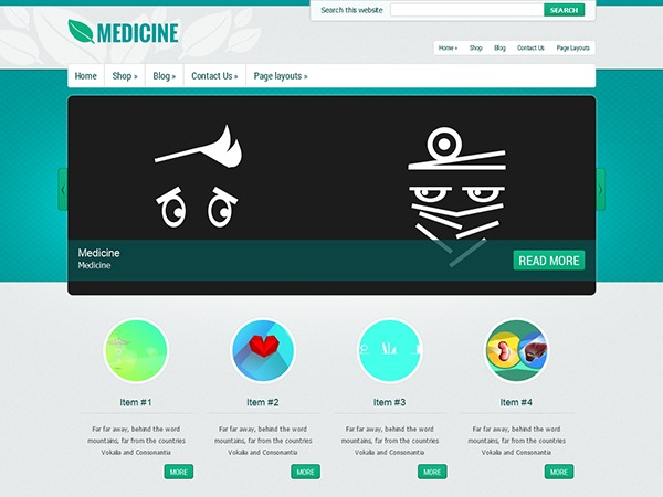 Medicine WordPress template