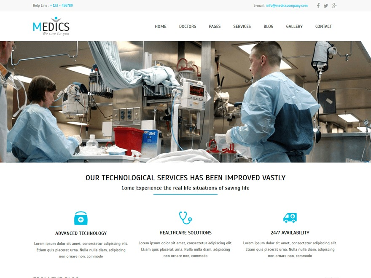 Medics best free WordPress theme