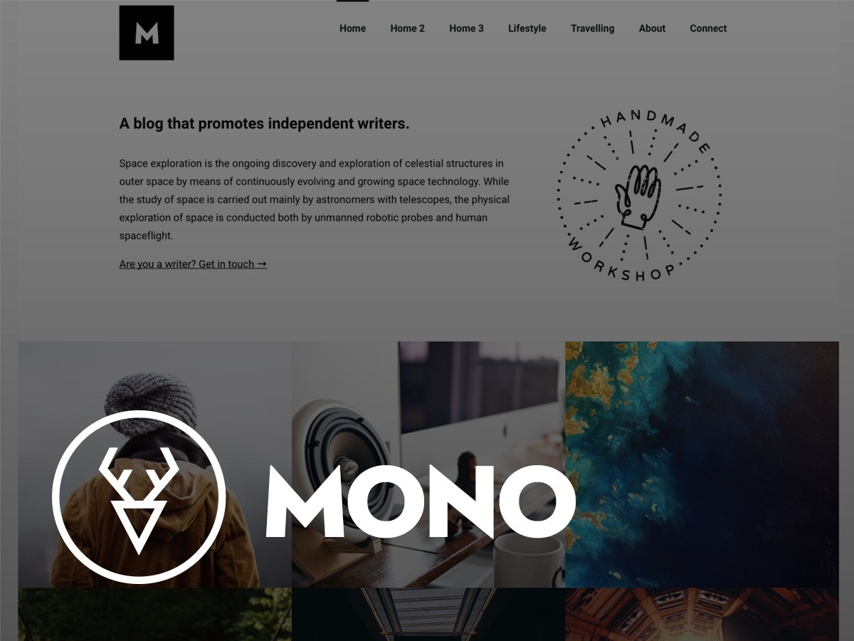 Mono WordPress blog theme