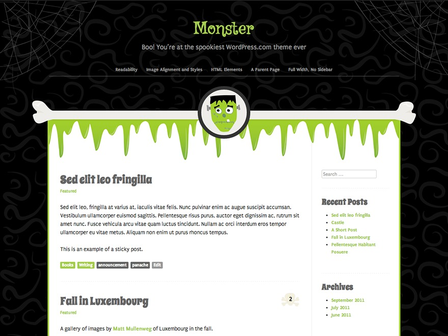 Monster WP theme