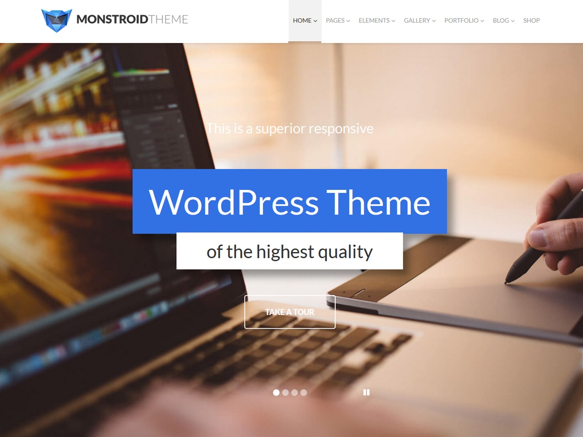 Monstroid WordPress ecommerce template