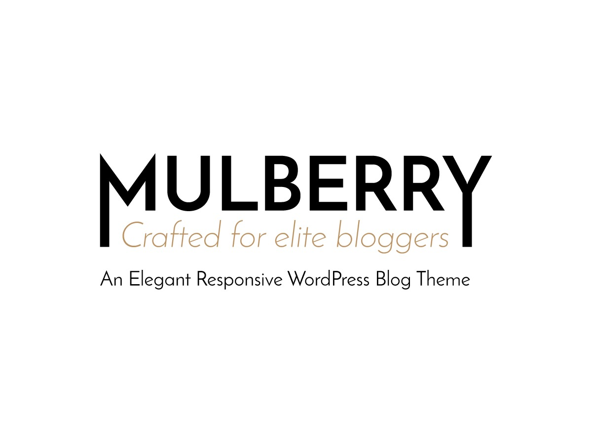 Mulberry WordPress blog theme