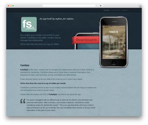 MyApp WordPress template - fylestyle.com