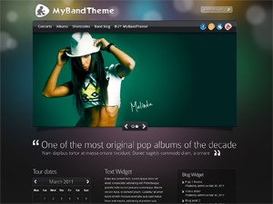MyBandTheme theme WordPress