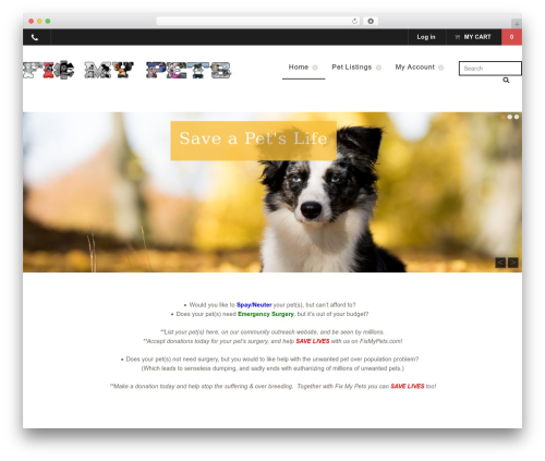 Mystile WordPress theme - fixmypets.com