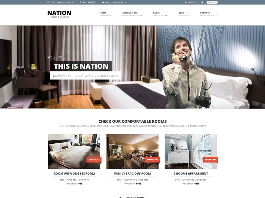 Nation business WordPress theme