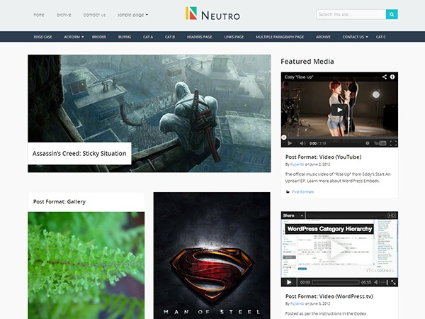 Neutro WordPress template free download