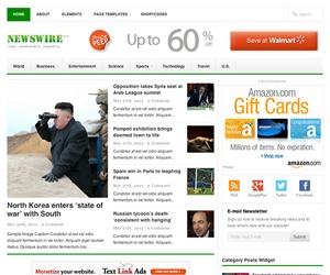 Newswire best WordPress magazine theme