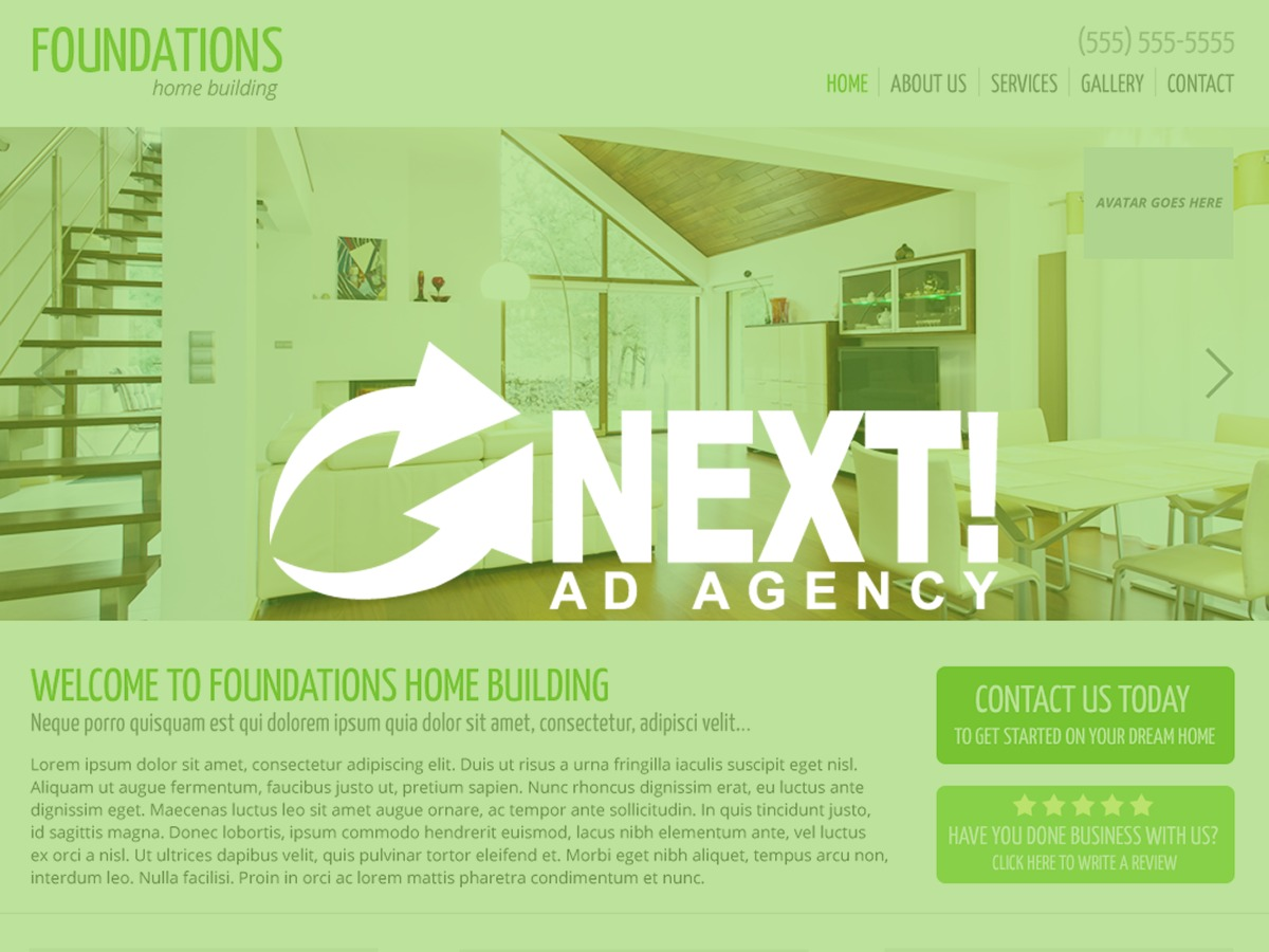 Next Foundations Child WordPress page template