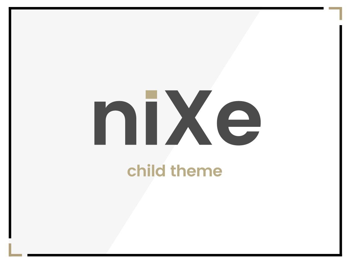 Nixe - Child Theme WordPress website template