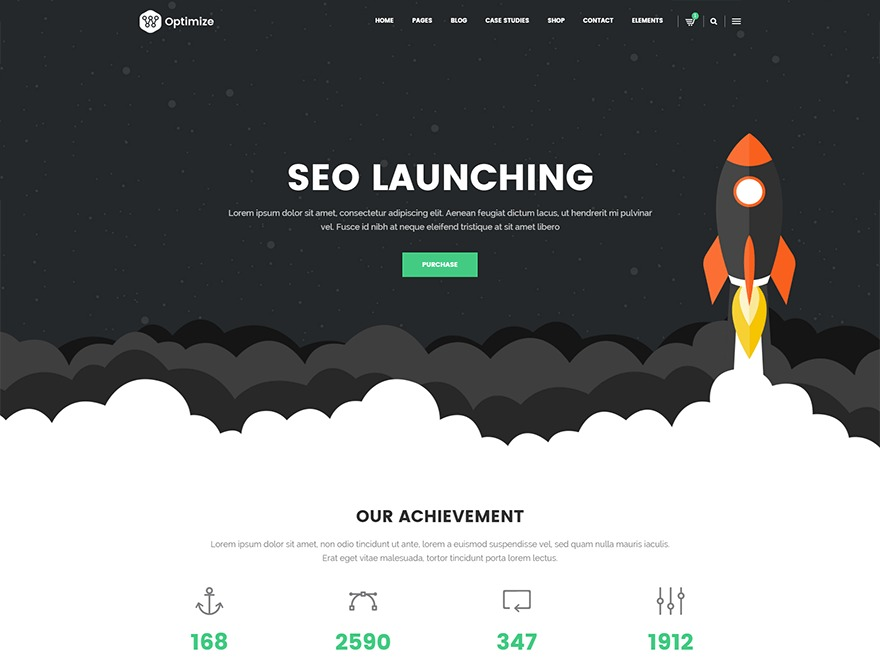 OptimizeWP WordPress page template