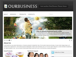 OurBusiness company WordPress theme