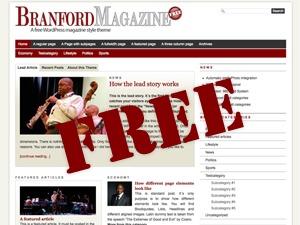PRiNZ BranfordMagazine Free WordPress magazine theme