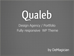 Qualeb company WordPress theme