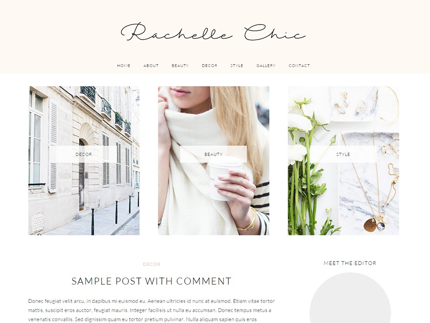Rachel WordPress portfolio template