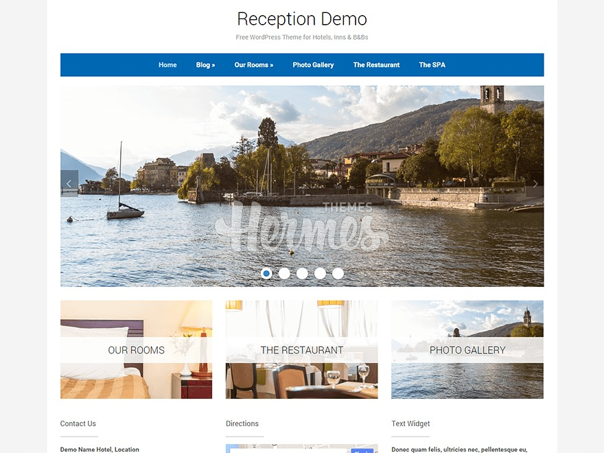 Reception best free WordPress theme