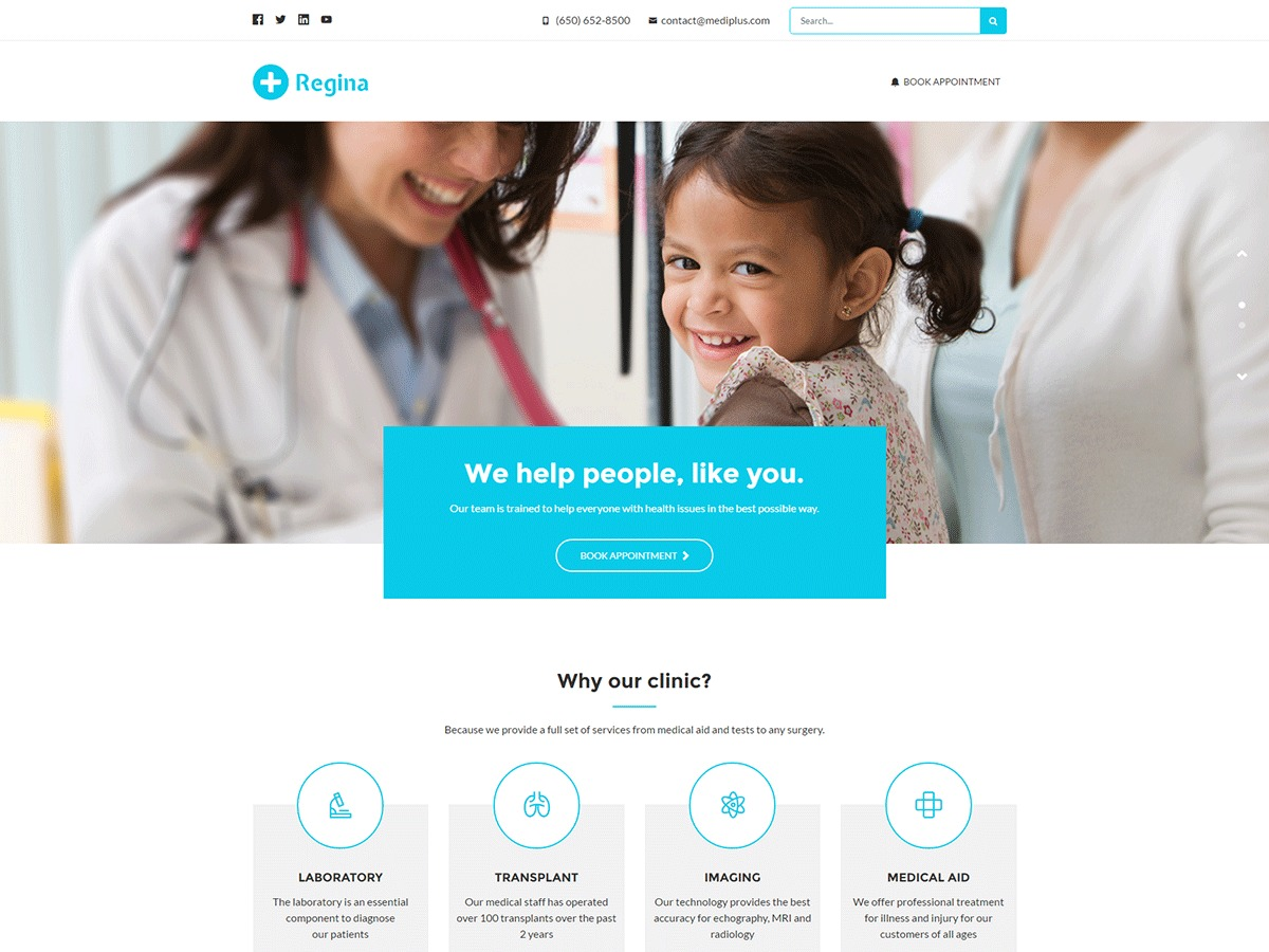 Regina template WordPress
