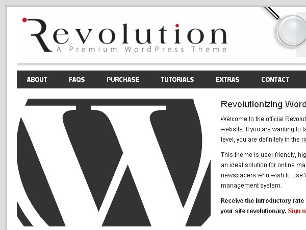 Revolution 2 WordPress theme