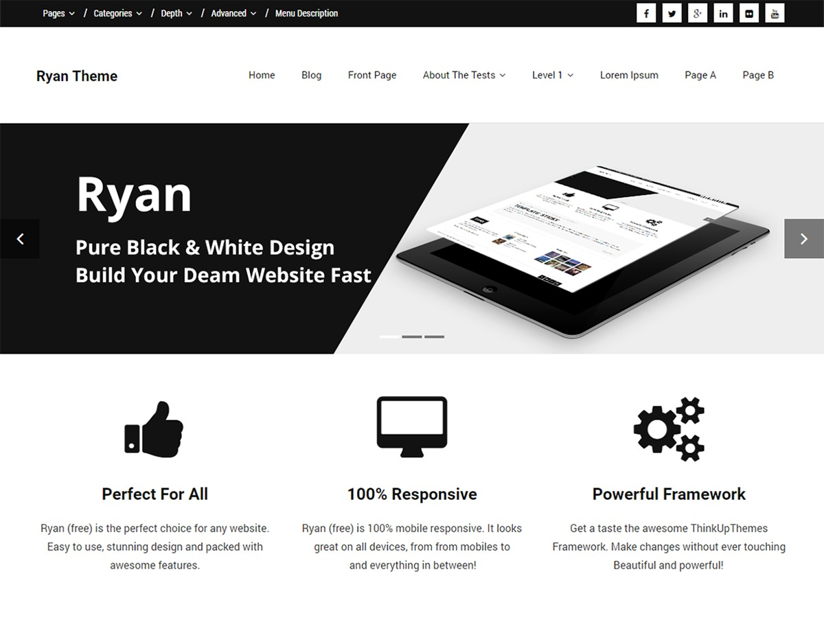 Ryan WordPress blog template