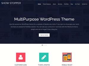 ShowStopper theme WordPress portfolio
