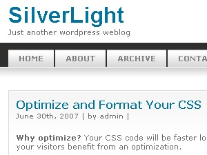 Silver Light WordPress theme