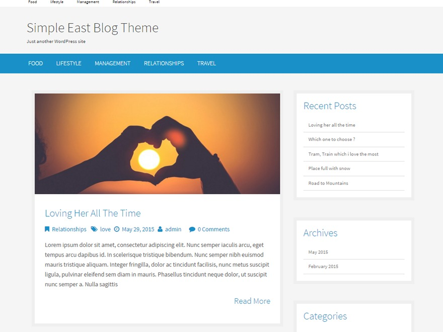 Simple East WordPress theme download
