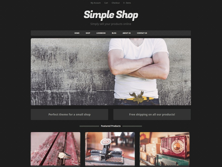 Simple Shop WordPress ecommerce theme