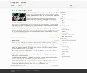 SimpleG WordPress blog template
