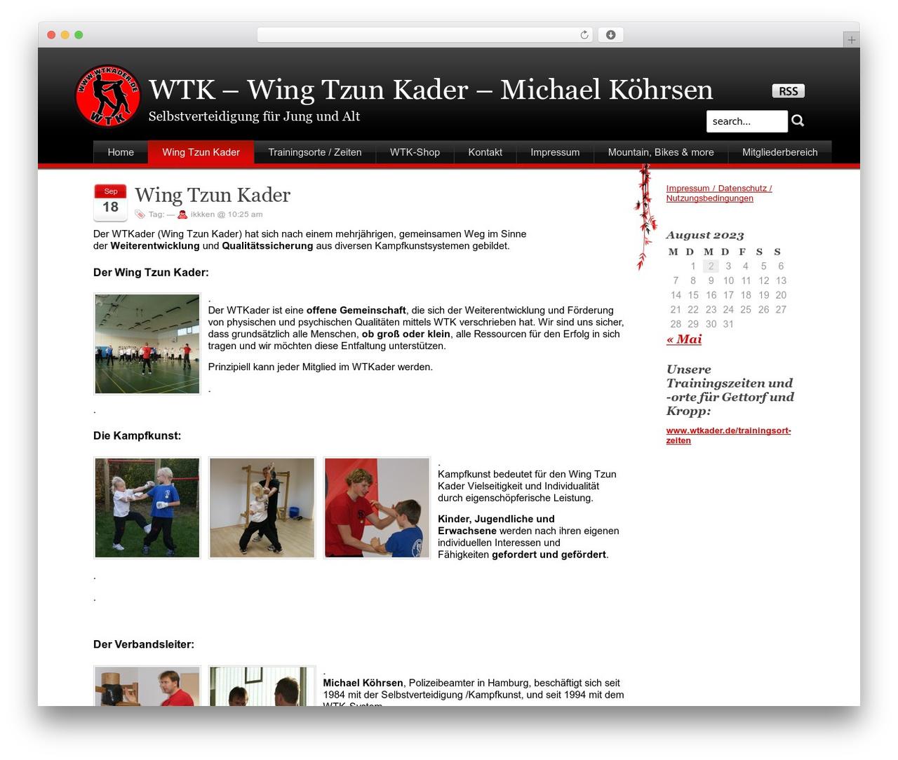 Stardust WordPress page template - wtkader.de