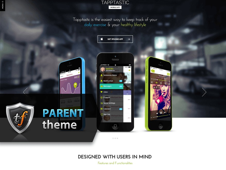 Tapptastic Parent theme WordPress
