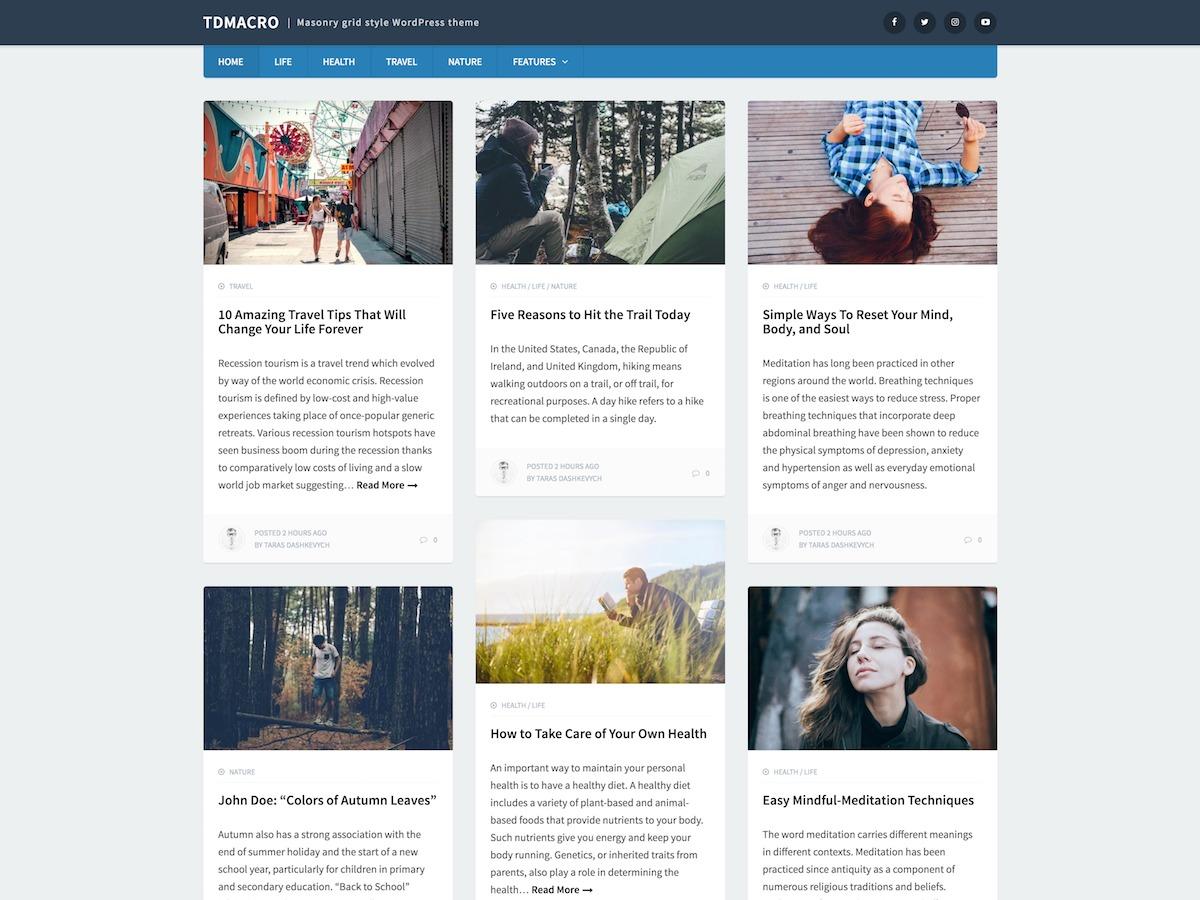 tdMacro free WordPress theme