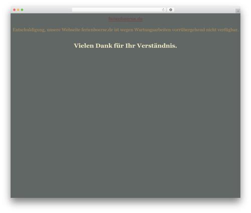 tegude WordPress theme - ferienboerse.de
