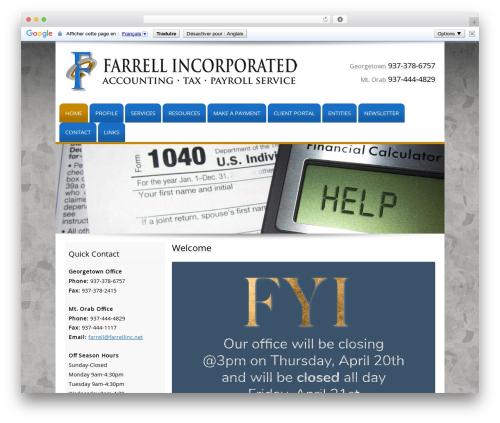 Template WordPress Customized - farrellinc.net