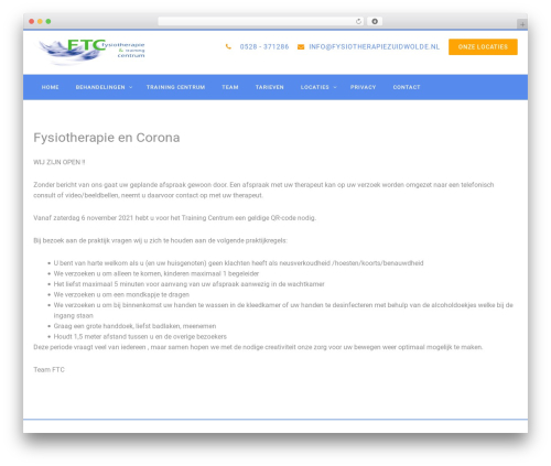 Template WordPress PhysioPlus - fysiotherapiezuidwolde.nl