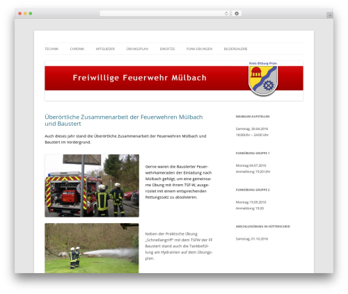 Template WordPress Twenty Twelve - feuerwehr-muelbach.de
