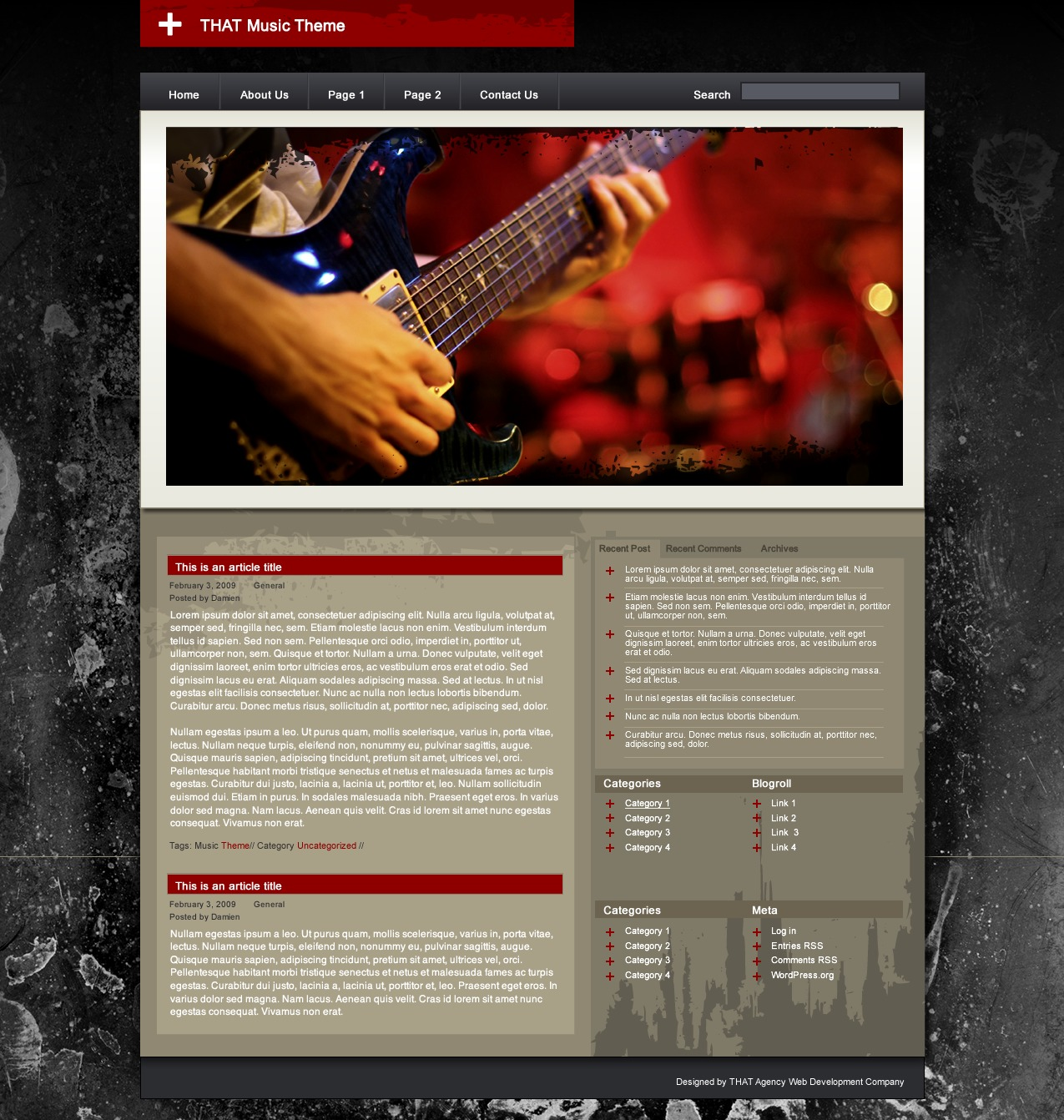 THAT Music Theme WordPress blog theme