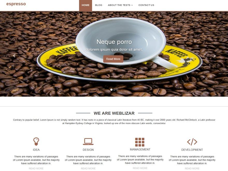 the espresso WordPress blog theme