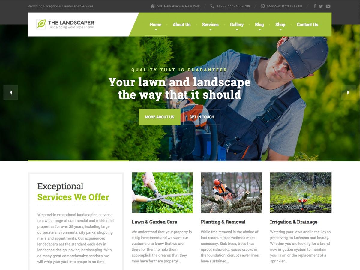 The Landscaper garden WordPress theme