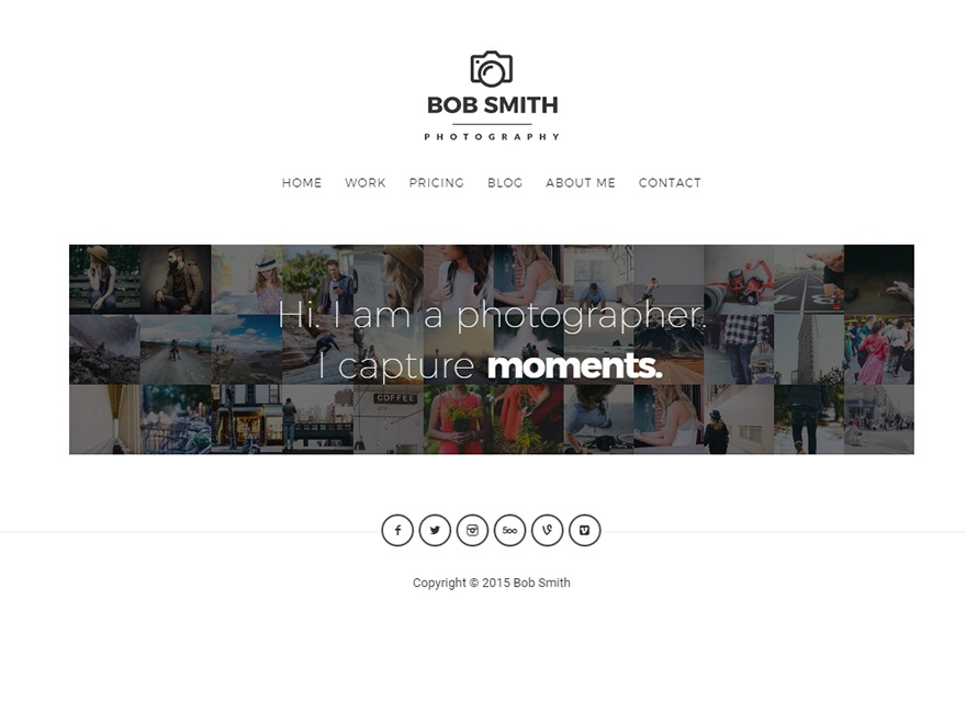 Theme WordPress Photographer