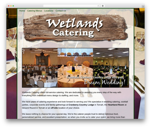 Theme WordPress Weaver II - wetlandscatering.com