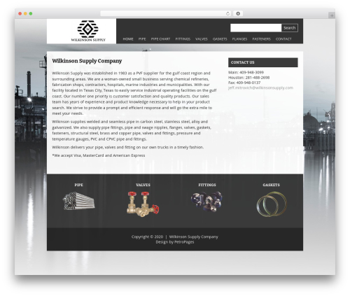 Theme WordPress Yasmin - wilkinsonsupply.com
