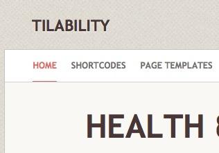 Tilability WordPress theme