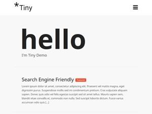 TinyPress WordPress blog template