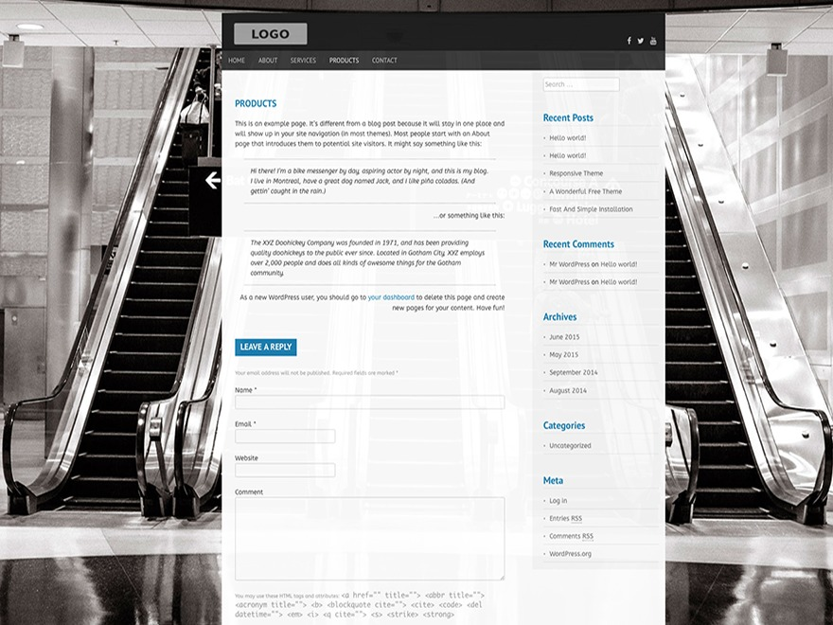 Topcat Lite WordPress template free download